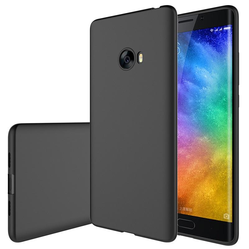 Mjukt silikonfodral för Xiaomi Mi Note 2 Lyxig tunn hud Skyddande bak skal för xiaomi mi note2 telefonhölje