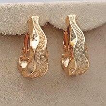 New Punk hoop earrings Earrings for Women Gold Filled  Zircon Circle Woman Hoop Earrings Trendy Jewelry for Party Wedding Gift