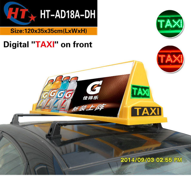 High Brightness Transparent Taxi Top Led Advertising Box Car Roof Signs