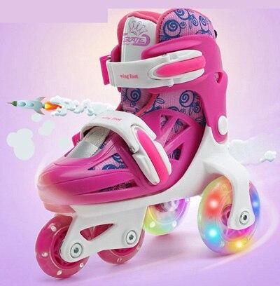 Kinderen/Volwassen Pro Rolschaatsen schoenen grote wielen veiligheid schaatsen schoenen Skate Roller Schoenen Ademend en Wearable kwaliteit - 3