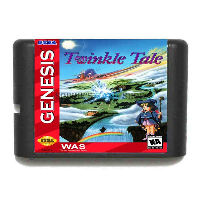 Twinkle Tale Game Cartridge Newest 16 bit Game Card For Sega Mega Drive / Genesis System