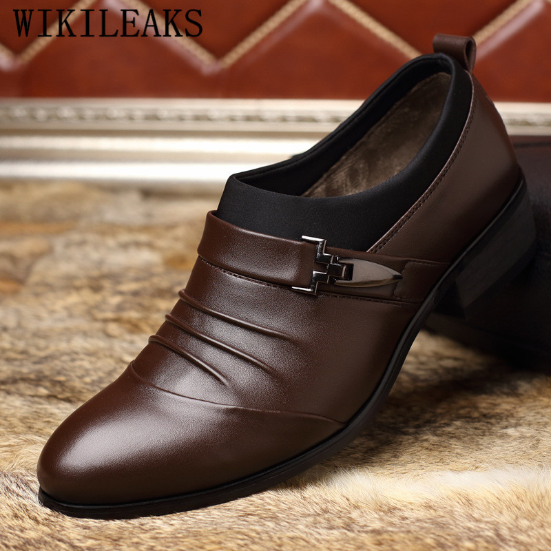 Qwedf 2019 New Mature Men Dress Leather Shoes Fashion Men Wedding Dress Shoes Business Comfortable Office Party Shoes Dd-045 Shoes Formal Shoes