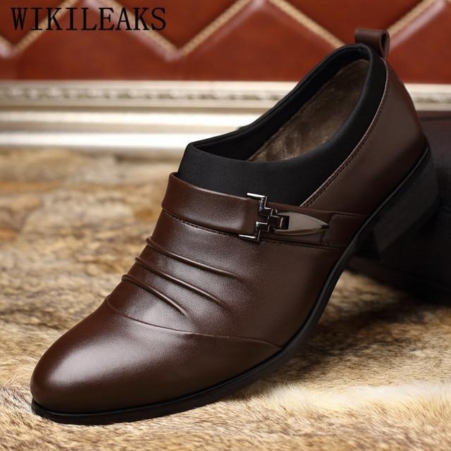 a32ddf52 Zapatos oxford de marca de lujo italianos para hombres mocasines zapatos  formales zapatos de boda de cuero para hombres zapatos de vestir hombres  sapato ...