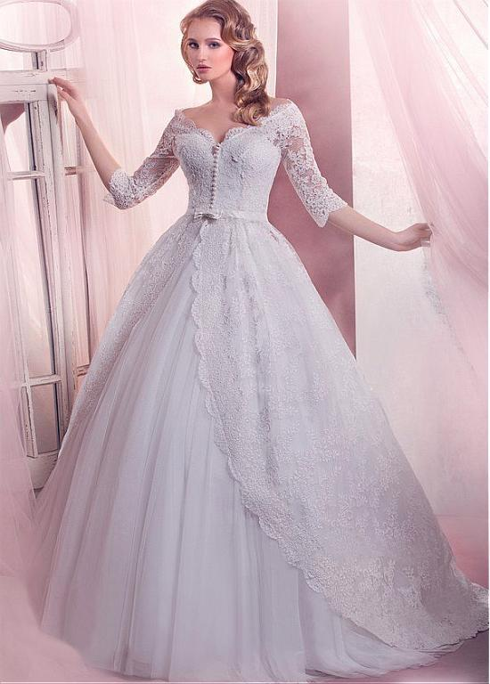 a line wedding dresses with sleeves 2016 new style a line wedding dresses covered button back 1199