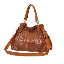 New 2016 Women Split Leather Handbags Famous Shoulder Bags Women Designers Brands Bag Vintage Tote Bags