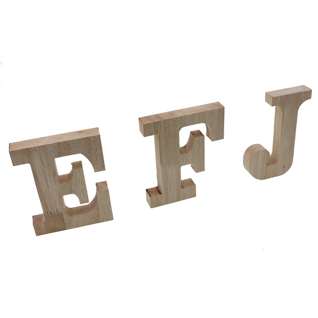 RUNBAZEF Decor Color Wooden Letter 26 Wood English Alphabet Letters Home Wedding Party Tools Decoration Number DIY Handcrafts 6