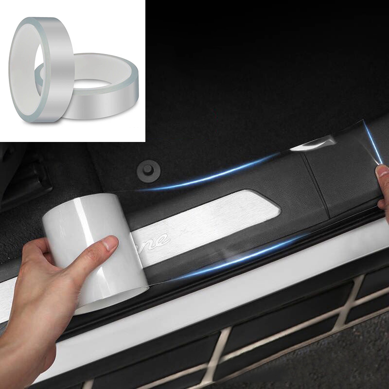 Car Style Door Protect Car Stickers Scratchproof Car Door Sill Sticker Protector Multifunction Nano Tape Auto Bumper Strip