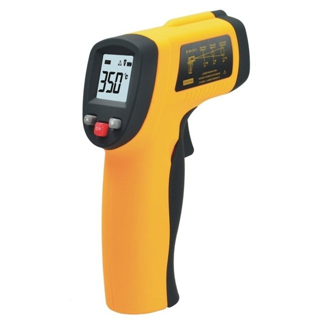 1pc Non-Contact Digital IR Infrared Thermometer -50-380'C LCD Display With Laser Gun t,free shipping