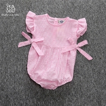 2 Color Cute Baby Girl Elastic band Stripe Romper Jumpsuit Outfits For Newborn Infant Children Clothes Kid Clothes For Girls cute bunny ears tail rabbit baby girls boys hooded hoodie romper jumpsuit outfits for newborn infant children cloth kid clothing