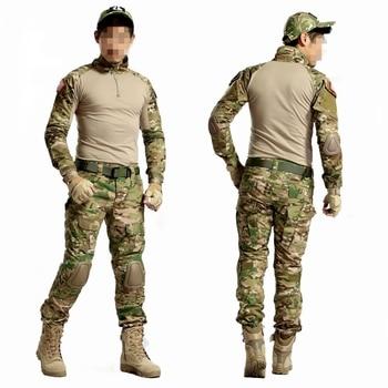 Multicam Camouflage Tactical BDU Uniform Camo Men Airsoft Sniper Paintball Military Suit Combat Shirt Pants Hunting Clothes 2