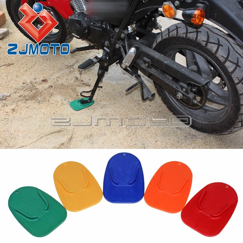 Nieuwe Mode Zjmoto Kickstand Side Pad Base Motorfiets Voor Yamaha Honda Harley Motorfiets Kickstand Pad