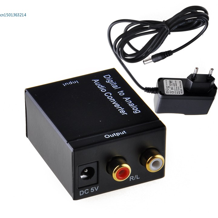 Dropshipping New Converters Audio Converter Digital Optical Coaxial RCA Toslink to Analog Audio Converter Adapter EU millimeter wave analog to digital converters