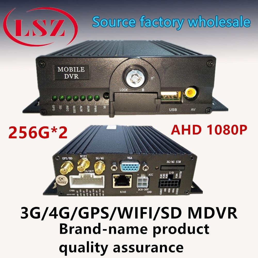 Hikvision двойной sd карта Автомобильный видеорегистратор 4 канальный 4 г сети WI FI автомобиля системах видеонаблюдения MDVR хост AHD1080P gps позиционир