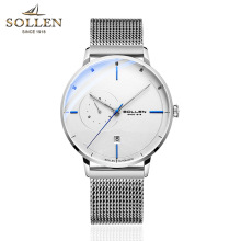 лучшая цена SOLLEN Mens Watches Top Brand Luxury Automatic Mechanical Watch Casual Steel Sapphire Waterproof Wristwatch Relogio Masculino