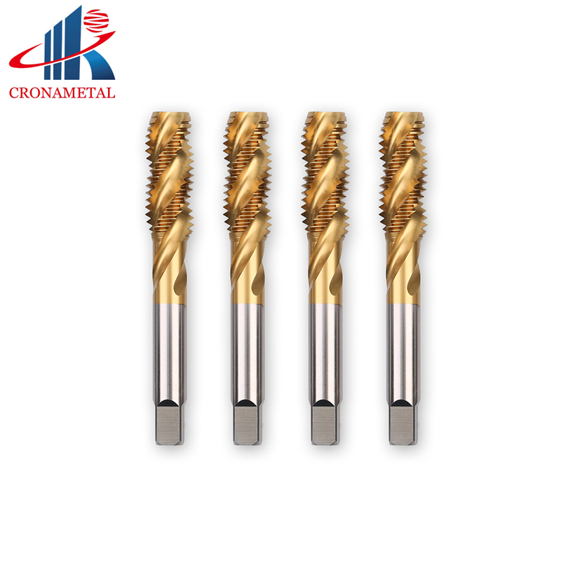 CRONAMETAL TIN coating HSS thread screw machine tap M1 M2 M3 M4 M5 M6 M7 M8 M9 M10|Tap & Die| |  - title=