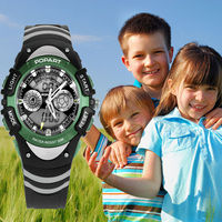 POPART Children's Watches Children Watch Quartz Sport Stop Watch LED Display Digital Alarm Waterproof Children Watches For Boys