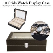 New Watch Box PU Leather Watch Box Jewelry Display Storage Case Organizer Wristwatch box цена и фото