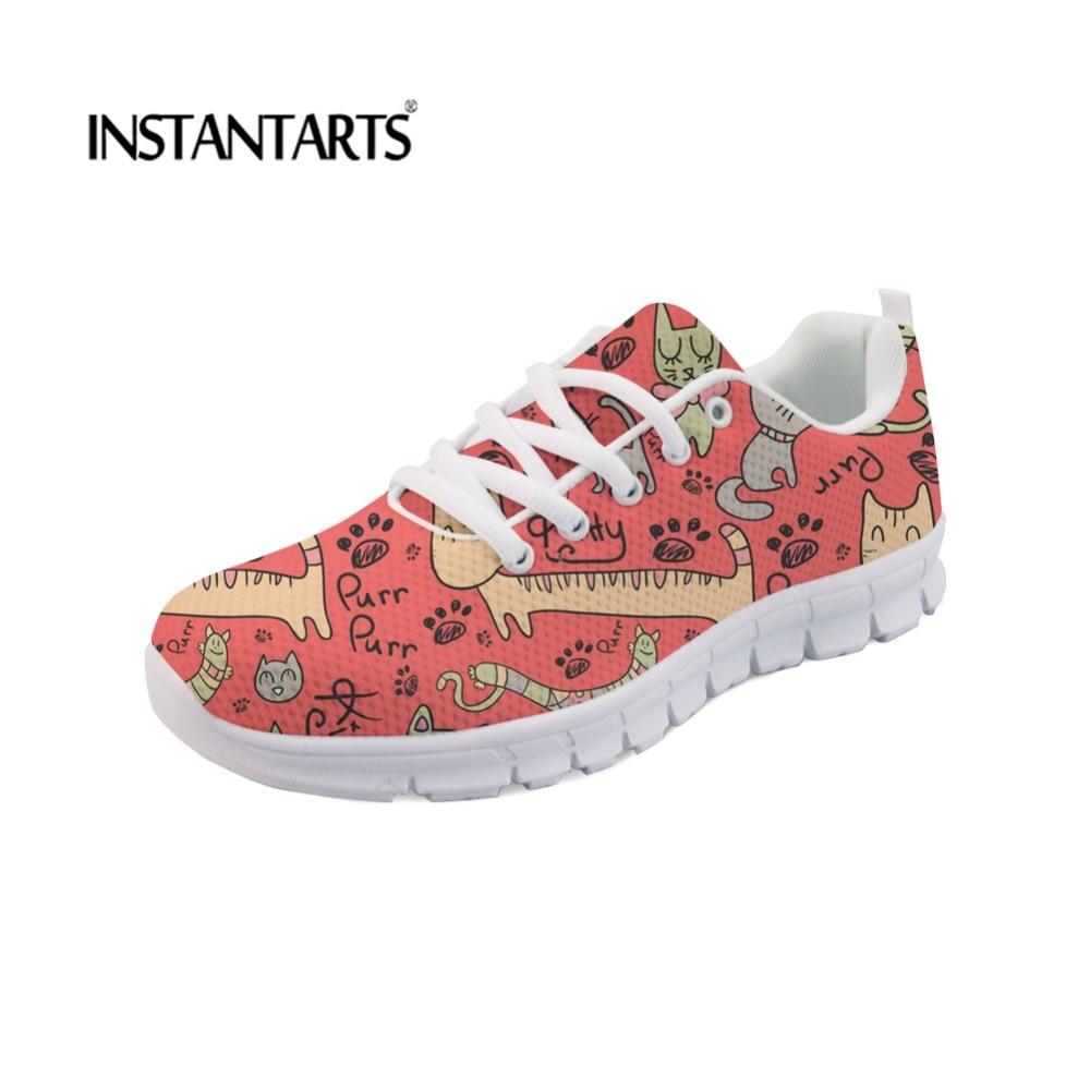 FORUDESIGNS Flats-Shoes Rabbit Women Lace-Up Walk-Footwear Summer Sneakers Autumn Casual