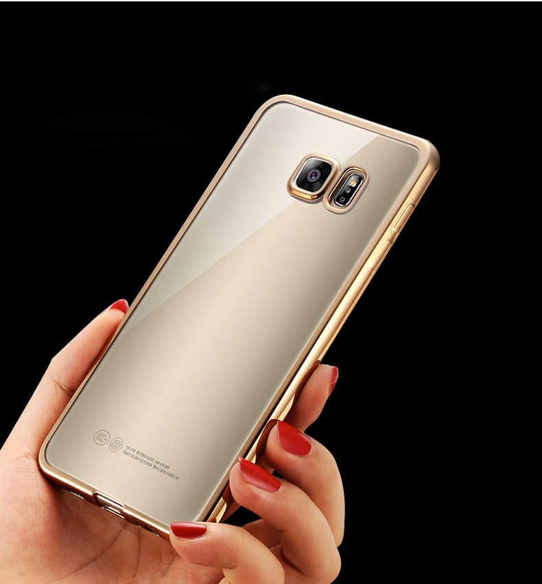 יוקרה זהב ציפוי קריסטל רך TPU מקרה עבור סמסונג גלקסי S9 S6 S7 קצה S8 בתוספת C5 C7 C9 פרו הערה 8 5 4 3 סיליקון חזרה כיסוי
