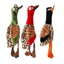 30*9cm Interesting Squeak Plush Pet Dog Toy Duck Bird Stuffing Free Puppy Interactive Play Assorted Color New 1 Pcs
