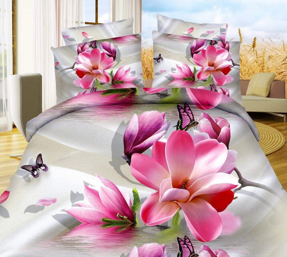 Textiles Para el hogar, Estilo Amor Flor De Mariposa de Impresión 3D Juegos de C