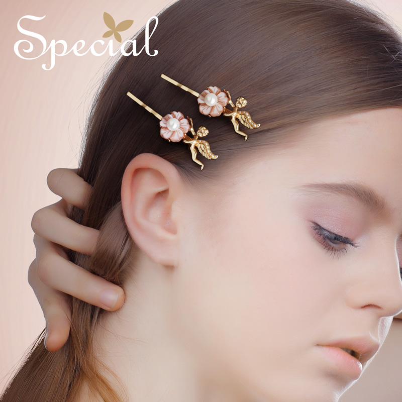 The SPECIAL New Fashion euramerican flower pearl hair accessory hairpins for women the kiss of Angel S1815H in Hair Jewelry from Jewelry Accessories