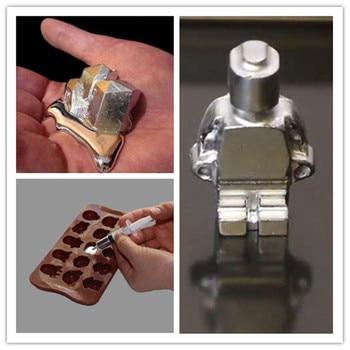 Free Shipping Gallium metal 99 99% Purity10g 20g 50g 100g Gallium Element Low Melting Point Metal Educational Magician Diy Toy 1g 99 9% zirconium metal piece s in glass vial element 40 sample
