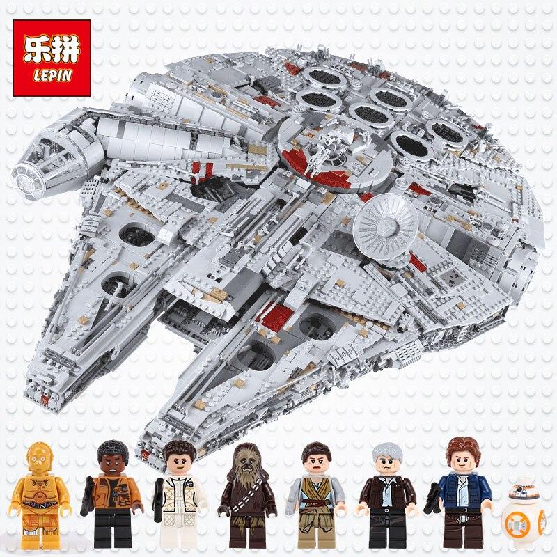 Lepin 05132 étoiles plan destroyer millennium falcon Jouets compatible avec LegoINGlys 75192 briques modèle blocs de construction Wars Set