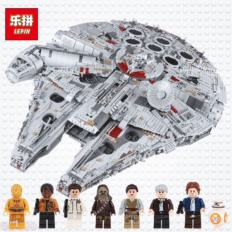 lepin 05132 star plan destroyer millennium falcon Toys compatible with LegoINGlys 75192 bricks model building blocks Wars Set