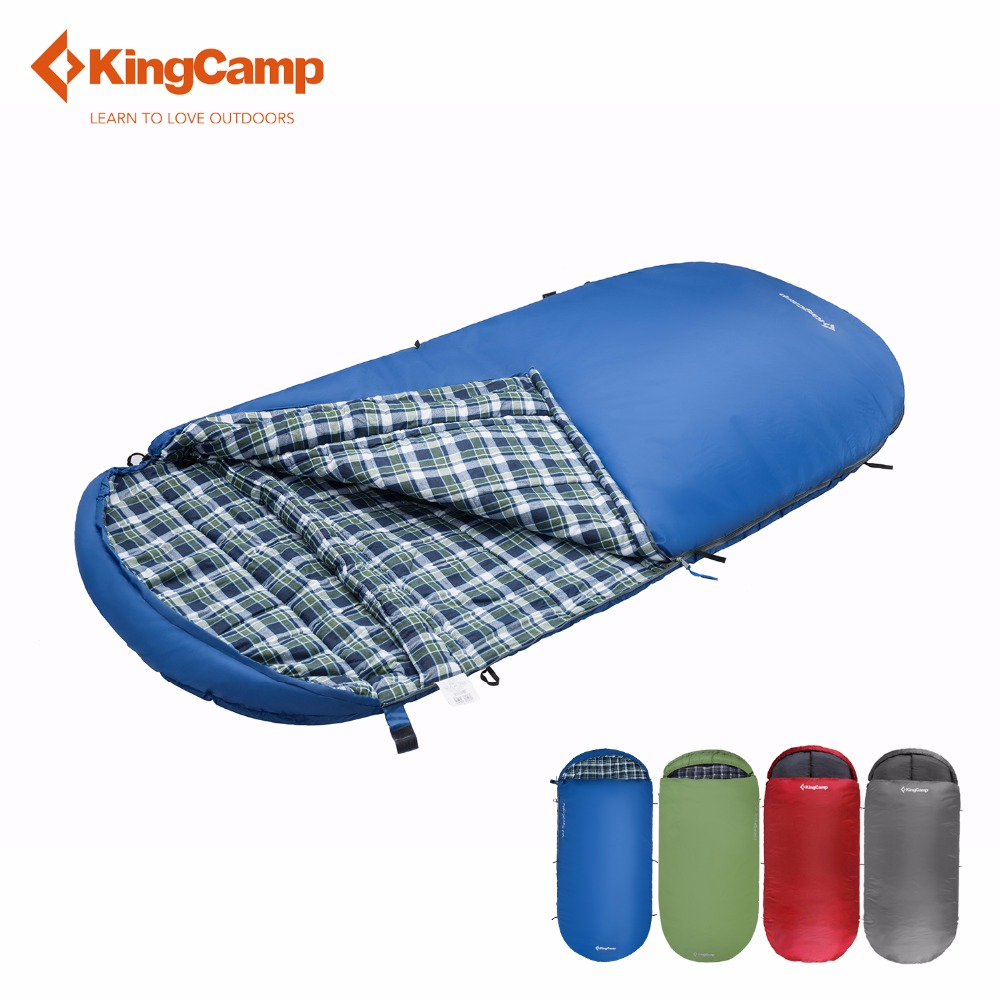 KingCamp sleeping bag camping lazy bag Free Space 220 X 110cm 2 colors all season sleeping bag adult bag outdoor цена 2017