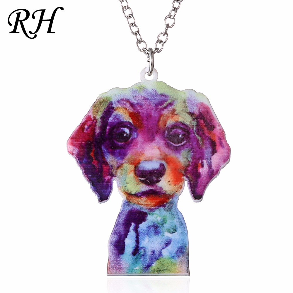 Acrylic Animal Necklace Pet Cat Dragon Pig Bird Wolf Horse Fish Dog Necklace Women Bohemia Jewelry Pendant Ethnic Long Necklace in Pendant Necklaces from Jewelry Accessories