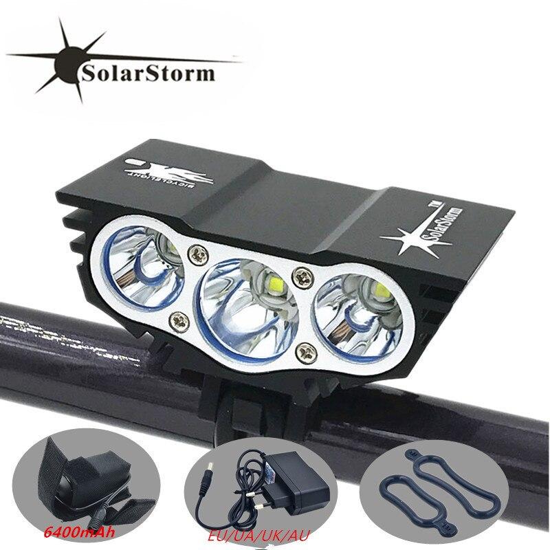 Modo 4 X3 Bicicleta Solarstorm 6000 Lumens XM-L T6 LED Ciclismo Frente Luz Bateria + Carregador