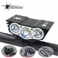 Solarstorm X3 vélo 6000 Lumens 4 Mode XM-L T6 LED vélo lumière avant batterie + chargeur