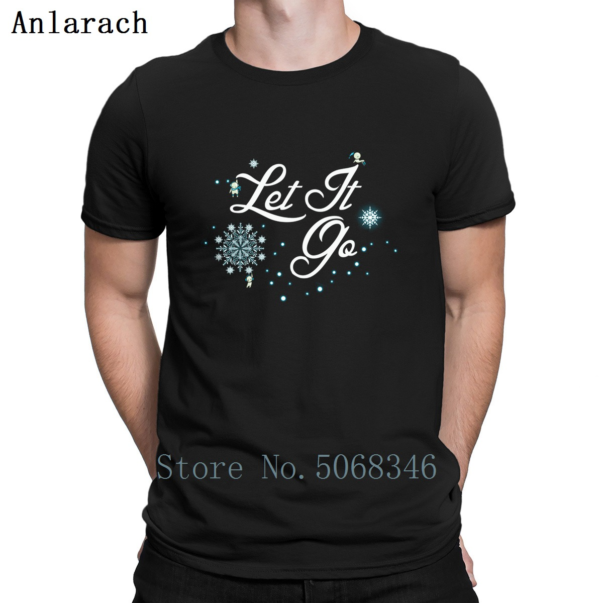 Let It Go Frozened T Shirt Personalized S-XXXL Anti-Wrinkle Spring New Style Male Outfit Cotton Shirt