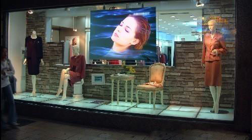 Fast free shipping! 1.524 m * 15 m transparent holographic color rear projection film/foil for window shop display