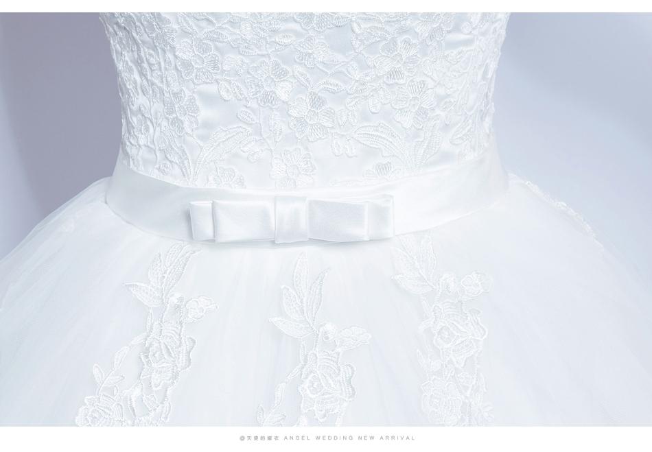 Angel Wedding Dress Marriage Bride Bridal Gown Vestido De Noiva 2017 Lace, flowers, perspective, backless 612 17