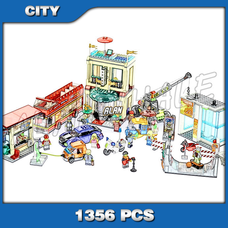 1356pcs Downtown Capital City Square Museum Hotel 02114 Model Buliding Blocks Children Gifts Bricks Compatible with Lago