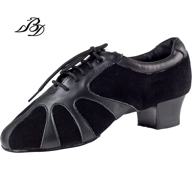 Dance Shoes Men Shoes Sneakers Latin Shoes Female Adult Two soles Teacher Practice National standard Shoe Imported Soft Leather latin canvas dance women shoes female adult social modern shoes with leather soft soled shoes women square dance shoes