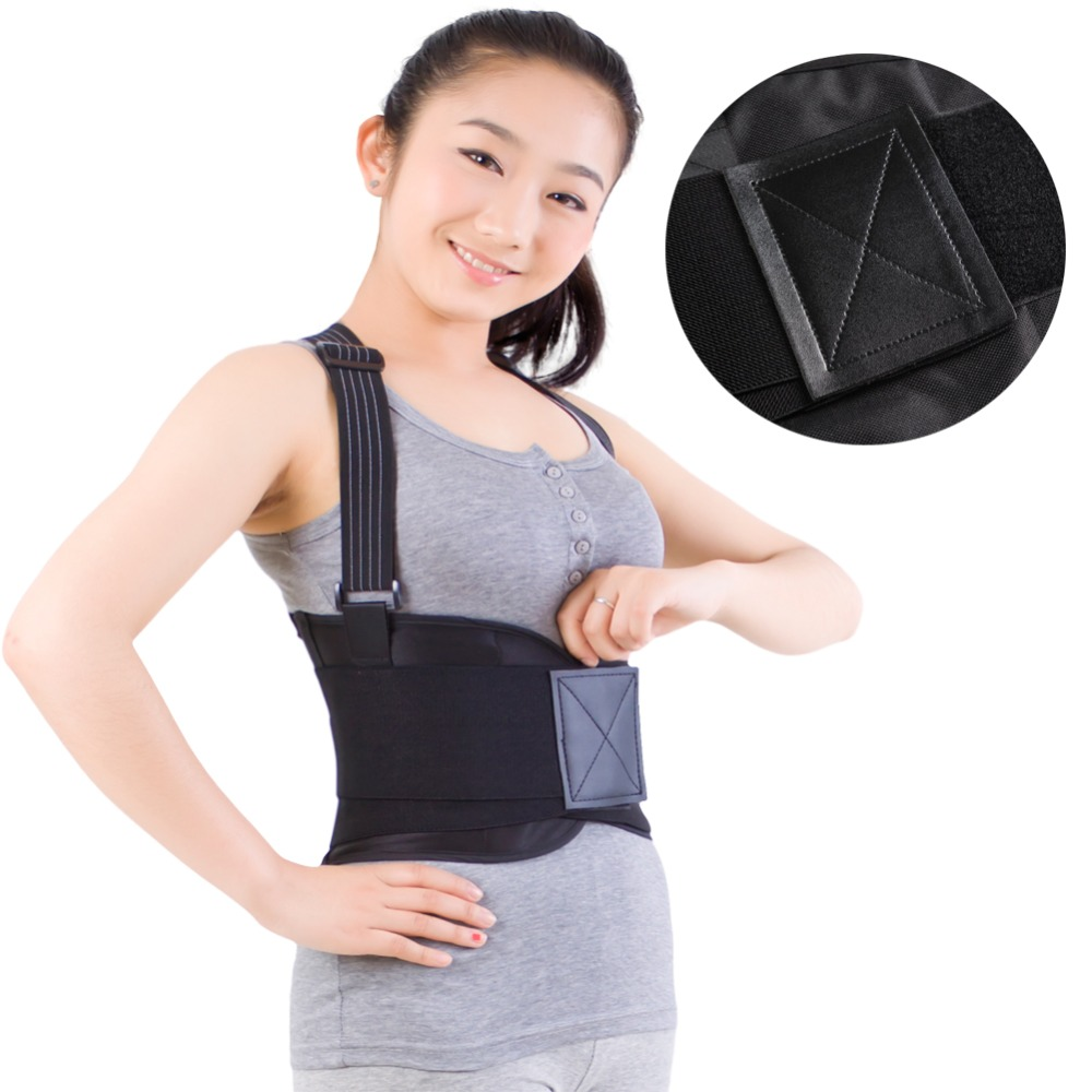 Heavy Lift Back Support Belt /& Waist Brace w Adjustable suspenders Size Large