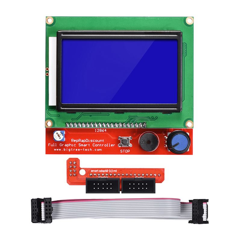 12864 LCD Smart Display Control Panel For 3D Printer Smart Controller With Adapter Cable Fit to Ramps 1.4 For RepRap Mendel