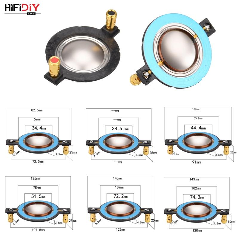 HIFIDIY LIVE 34.5 38 44.5 51.5 72 74 Core Tweeters Voice Coil Membrane Titanium Film Treble Speaker Repair Accessories DIY Parts