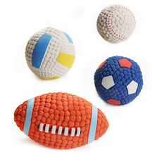 HOOPET Pet Dog Toy Environmental Protection Latex Balls Squeak Toys Interesting Tennis Football Tooth Cleaning