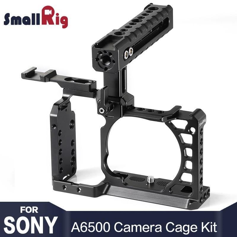Kit Cage SmallRig A6500 pour appareil photo Sony A6500 avec poignée supérieure Extension de chaussure froide en aluminium double Cage 2081-in Trépieds et monopodes from Electronique    1