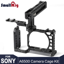 SmallRig A6500 Cage Kit for Sony A6500 Camera With Top Handle Cold Shoe Extension Aluminum Dual Cage  2081