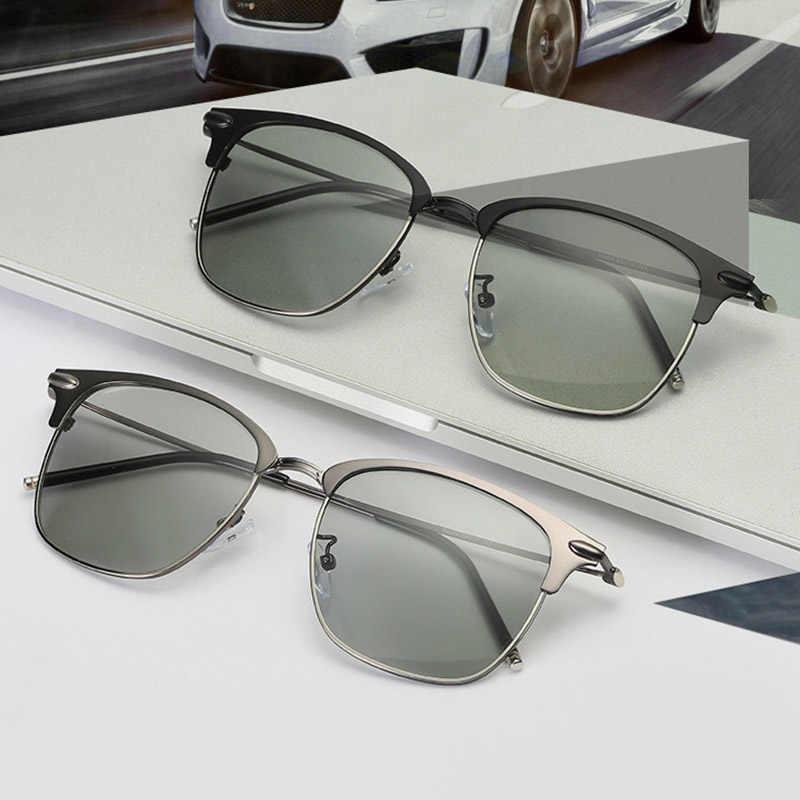 60f438ddc VazRobe 2018 Polarized Mens Sunglasses Photochromic Chamelone Oversized  Sunglass for Driving Man Goggle Sun Glasses Male