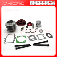 44mm Cylinder Piston Spark Plug Gasket Big Bore Kit For 47cc 49cc 2 Stroke Mini Dirt