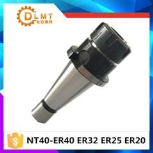 Nt40 nt30 er16/er20/er25/er32/er40, bastão de suporte de ferramenta para cnc
