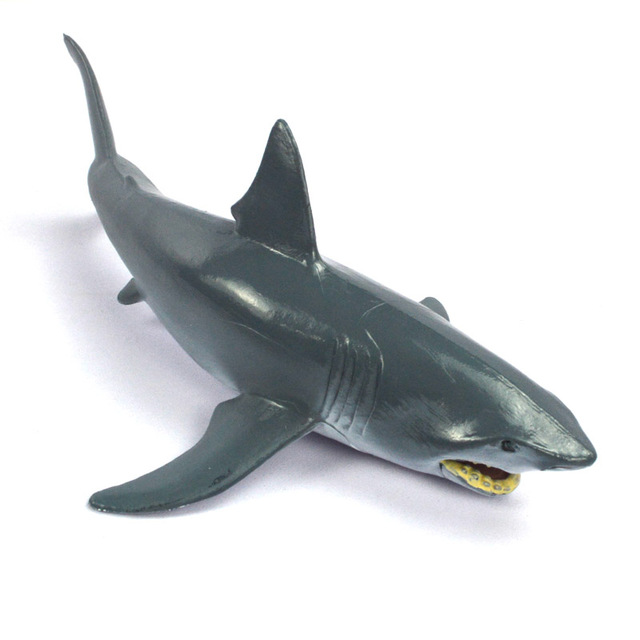 Cool Shark Toys : Sea animal wild animals zoo modeling plastic toy