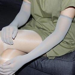 1 пара сексуальные женские прозрачные бесшовные длинные перчатки Доступные Свадебные колготки чулки эластичные Свадебные перчатки Новое