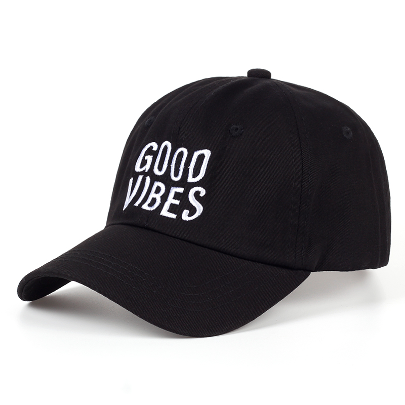 8991d07b DETAILS. 2017 new Good Vibes Dad Hat Embroidered Baseball Cap Curved Bill  100% Cotton Cas